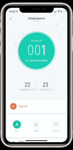 Xiaomi Air Purifier 3H aplikace Xiaomi Home
