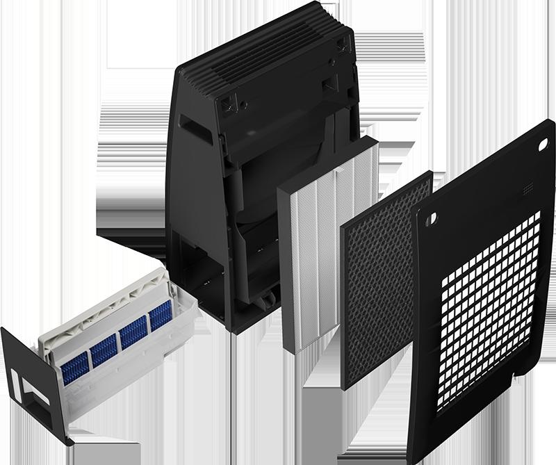 Sharp UA-HG30E-B rozložené filtry