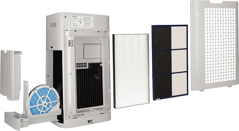 Sharp UA-HG50E-L filtrace
