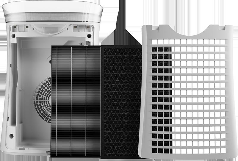 Sharp UA-PF40E-W rozložené filtry