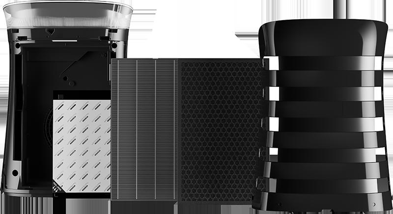 Sharp UA-PM50E-B rozložené filtry