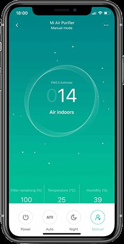 Xiaomi Air Purifier Pro H aplikace Mi Home